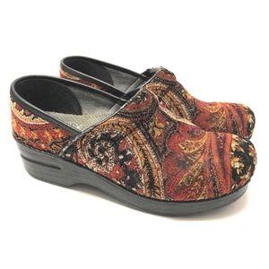 Dansko Vegan Brocade Floral Comfort Shoes Size 37